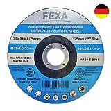 25x Premium Discos de corte - 125x1.0mm - Juego de discos flexibles INOX para metal, acero y acero inoxidable - Discos abrasivos Fexa de alto rendimiento