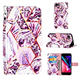 Voanice for iPhone 7 /iPhone 8 /iPhone SE 2020 Wallet Case,Luxury PU Leather Wallet Case with Card Holder Slots Flip Cover Kickstand Protective Magnetic for iPhone 7/8/SE 2020 4.7 inch-Purple Marble