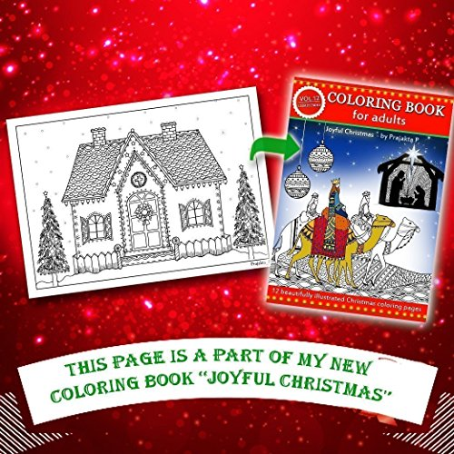 Christmas Coloring Gift Set For Adults - 3 coloring books, 2 coloring greeting cards, 1 canvas, 1 set of color pencils