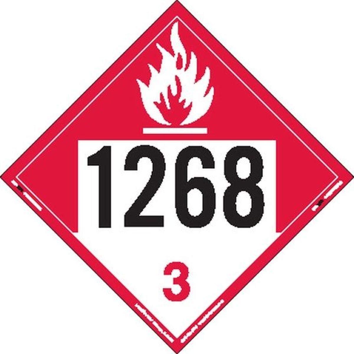 Labelmaster ZT9-1268 UN store 1268 Placard Sale special price Combustible Hazmat Liquid
