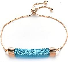 2019 Newest Charm Multicolor Crystal Bracelets Bangles for Women Femme Wedding Jewelry Adjustable Gold Chain Bracelet Gift