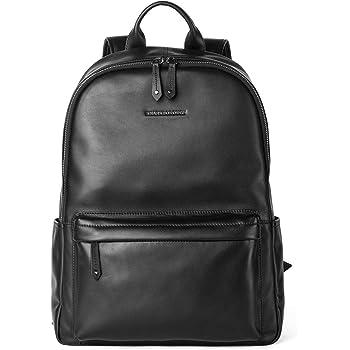 Sharkborough Supreme Anton Men's Backpack Genuine Leather Travel Bag Extra Capacity Casual Daypacks
