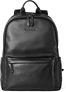 Sharkborough Supreme Anton Men's Backpack Genuine Leather Travel Bag Extra Capacity Casual Daypacks