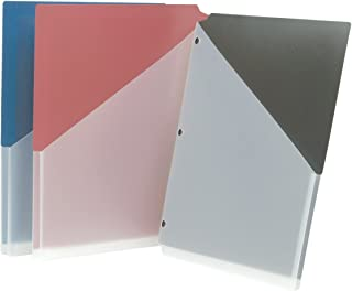 Smead Poly Jacket, 3/4' Expansion, Letter Size, Assorted Colors, 3 per Pack (89503)