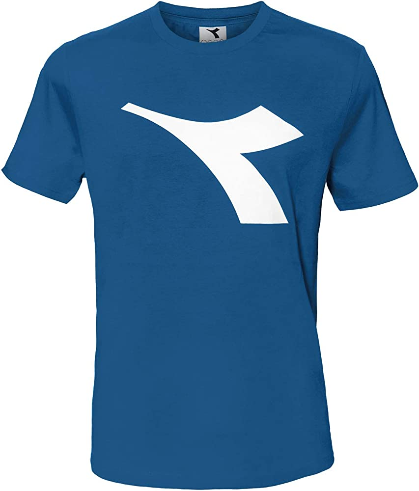 Diadora t-shirt , maglietta a maniche corte per  uomo , con logo in risalto , 90% cotone, 10% viscosa DiadoraTShirt177173_1_0