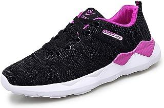 ZLYZS Zapatos para Correr para Mujer, Zapatillas De Deporte De Malla De Punto Ciudad Zapatillas De Deporte De Moda Casual ...