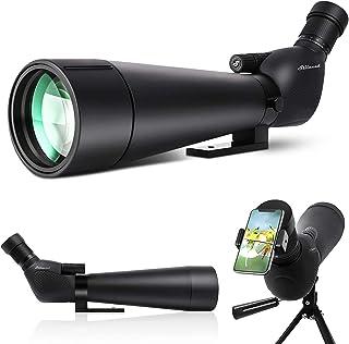 Spotting Scope, Dual Focusing 20-60X90 ED FMC Lens-BAK4 Prism Ultra HD Optics Telescope with Carrying Case Tripod and Smar...