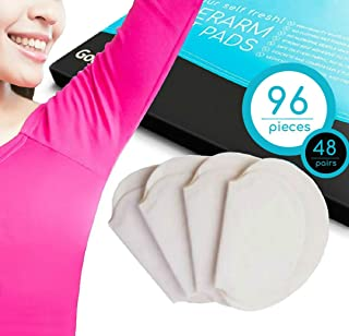 UNDERARM SWEAT PADS Keep Your Armpits Fresh All Day, Guard your Shirt and Fight Excessive Sweating. Disposable Individually Packed Pairs Cotton Pads Safe on Every Fabric and Skin.