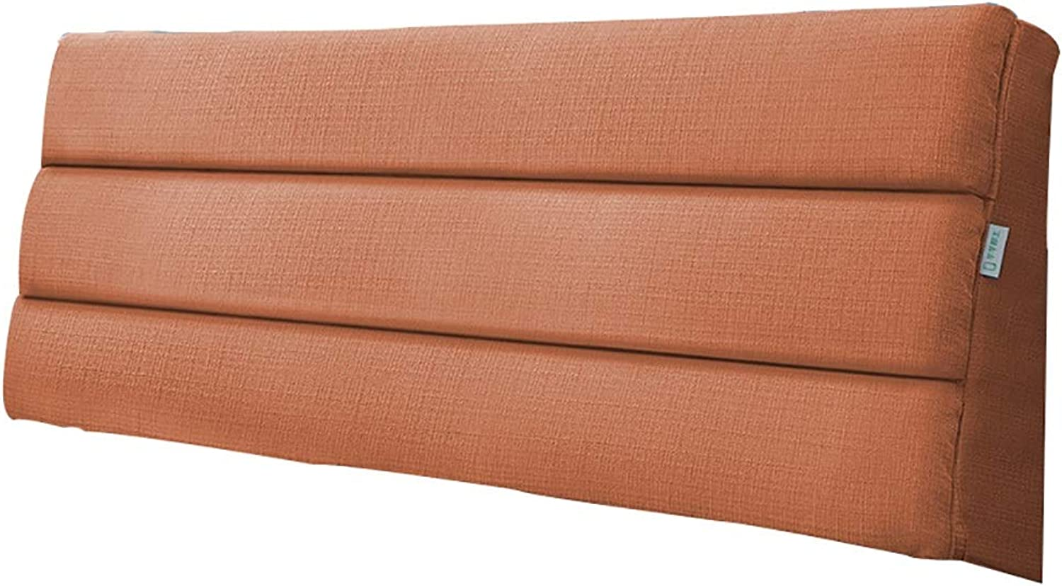 LXLIGHTS Headboard Bedside Cushion Triangle Backrest Waist Pad Bed Wedge Bay Window Sofa Pillow Washable, Simple Style (color   orange, Size   90  50  5cm)