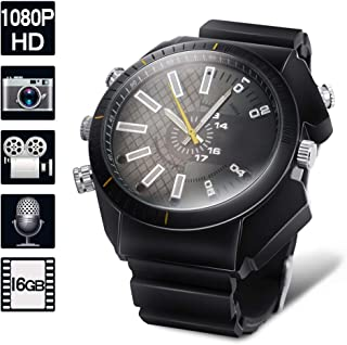 1080P HD Hidden Camera Watch - Mini Body Camera Recorder Support Photo Taking, Voice Recording, 16GB Memory Built-in