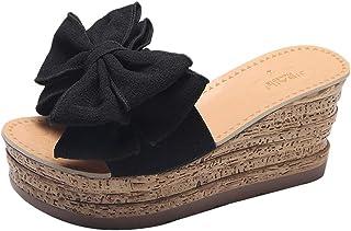 Sandales Femme Ete, Sandales Femmes Talons WINJIN Tongs Compensees Femmes Chaussures Femme Chaussures de Plage Femme Fille...