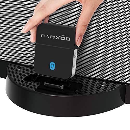 Fanxoo DockPro 30 pin aptX HD Bluetooth 5.0 Adaptador 30 Pin Adapter Receptor de Baja Latencia compatible para Bose Sounddock y iPhone iPod Music Docking Station