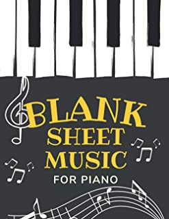 Blank Sheet Music for Piano: Birthday or Christmas Gift for Music Lovers, Music Notebook For Kids.