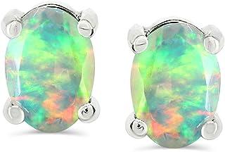 925 Sterling Silver Natural Ethiopian Multi-Fire Opal Beads Earrings Opal Beads Earrings Jewelry H-0421