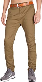 ITALY MORN Men's Slim Fit Casual Pants Stretch Chino Khaki