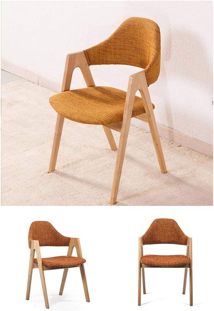 Y Dwayne Chaise de Salle à Manger en Bois Massif Chaise Tabouret Accueil Nordic Accoudoirs Retour Chaise Bureau Table 3 Couleur (Color : B) B