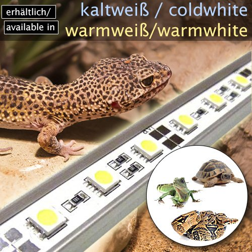 LED-Beleuchtung (kaltweiß, 90cm) Simulator Steuerung Terrarium/Aquaterrarium/Vivarium Reptilien Amphibien Spinne Insekt TB5WW - 7