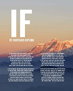 If by Rudyard Kipling - Mountain Sunset by Quote Master Art Print, 18 x 22 inches