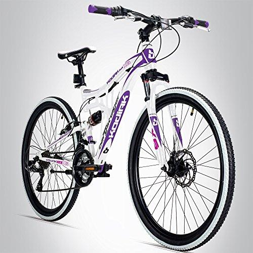 Bergsteiger Kodiak 24 Zoll Kinderfahrrad, geeignet für 8, 9, 10, 11 Jahre, Scheibenbremse, Shimano 21 Gang-Schaltung, Mountainbike mit Vollfederung, Mädchen-Fahrrad
