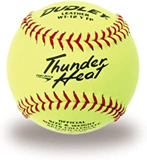 .47//375-Pound Dudley Thunder Heat Leather 12-In Fast Pitch Softball One Dozen