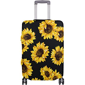 3D 3D Sunflower Print Luggage Protector Travel Luggage Cover Trolley Case Protective Cover Fits 18-32 Inch