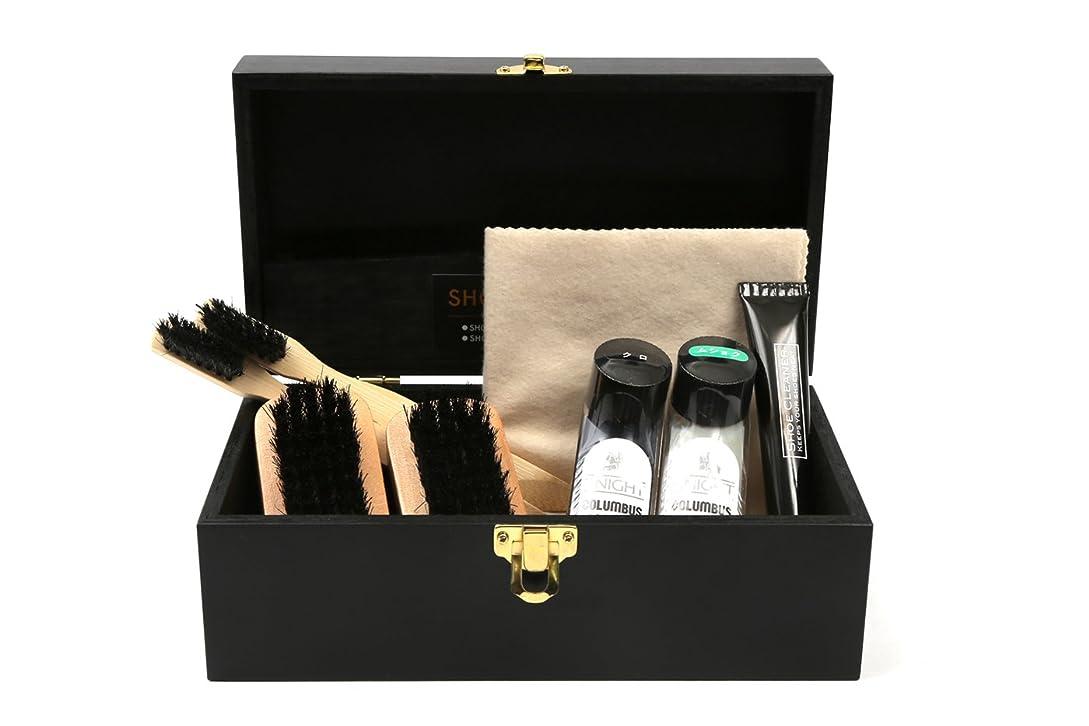 枯渇する問い合わせる副[コロンブス] COLUMBUS ミニリキッドセット3 リキッド2色 木製ケース入り靴みがきセット