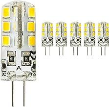 5 stuks G4 LED-lamp 3 W, 24 X 2835 SMD, 260 lm, vervanging voor 30 W halogeenlampen, 12 V DC warm wit 3000 K, 360 graden, ...