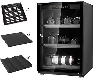 Gabinete seco electrónico Profesional, Caja deshumidificadora para Lentes cámara SLR y Almacenamiento Equipos fotográficos, Negro, 70L/85L/100L