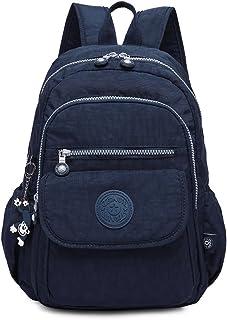 Rucksack Handtasche für Frauen,Damen Schultasche Kleine Leichte Nylon wasserdichte Multi-Taschen Uni Freizeit Starke Daypa...
