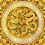 3D Custom Mural Ceiling <span class='highlight'>Golden</span> <span class='highlight'>Dragon</span> Mural Garden Balcony Stairway Living Room Bedroom Tv Sofa Background Wall Wallpaper ceiling-140X100cm (55X39 inch)
