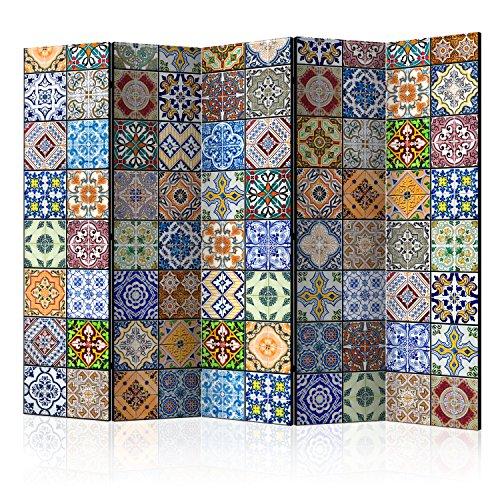 murando Raumteiler & Pinnwand Foto Paravent Mandala Ornament Oriental 225x172 cm beidseitig auf Vlies-Leinwand Bedruckt Trennwand - Spanische Wand - Sichtschutz - Raumtrenner f-B-0009-z-c