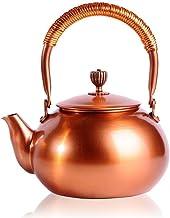 غلاية شاي تشانمول 4.1 أوقية خالية من البيسفينول A حمراء اللون موقد لفائف الأعلى ، وعاء قهوة اسبرسو كلاسيكي للمطبخ المنزلي ...