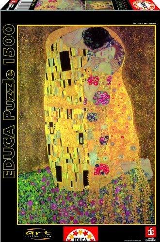 The Kiss, G. Klimt 1500 pc puzzle by Educa