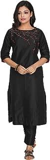 Black Embroidered Trouser Set