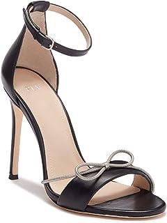 Pour La Victoire Elanna Leather Bow Sandal, Black