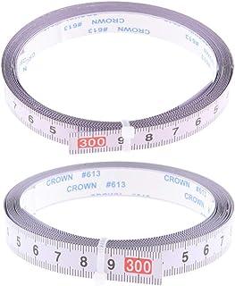 perfk 2 stycken geringssåg spår mätband för bordscirkelsåg router bordsarbetsbänk USA