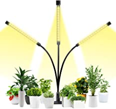Grow Lights for Indoor Plants,GLIME LED Full Spectrum Grow Light 30W Auto ON/Off Timer 3/6/12H Timing Grow Lamp With 5 Dimmable Levels Plant Lights for House Garden Hydroponics Succulent Growing
