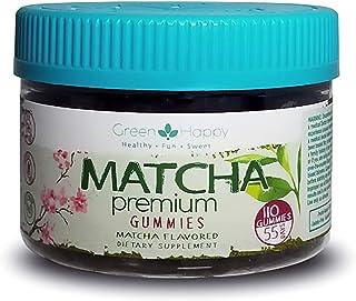 Green & Happy Matcha Gummies | Vegan, Metabolism Booster, Focused Energy, Antioxidant, Weight Loss (110 Ct) …