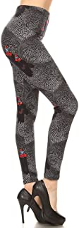 REG/Plus Women's Buttery Printed Soft Leggings BAT15