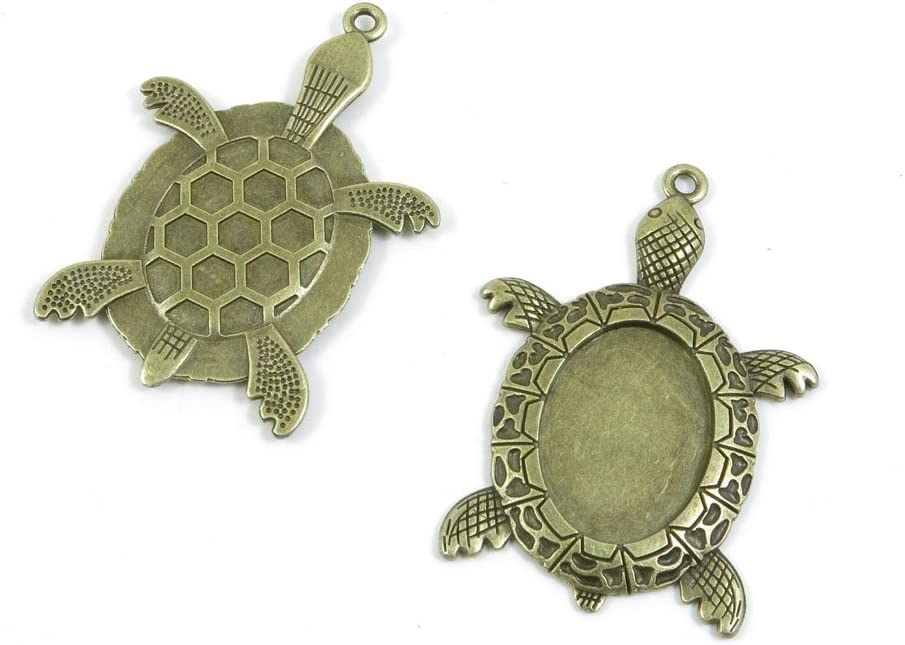 Silver Tortoise Turtle Metal beads Pendants Charms Jewelry Jewellery findings for earrings necklace bracelets #mb-338-sv