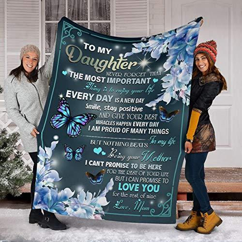 AOXING Manta con letras, cómoda manta envolvente, perfecta para regalar a la familia, amigos y amantes, manta de forro polar de franela cálida y suave, muy suave, cálida y cómoda.