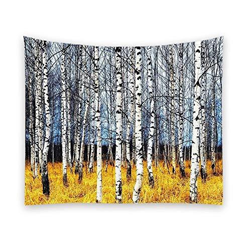 KHKJ Tapiz de árbol de Bosque Colgante de Pared Hippie poliéster decoración del hogar Manta Tela Dormitorio decoración del hogar A6 150x130cm