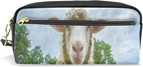 Pencil Case/Makeup Bags Sheep Camera Forest Tree Sky Big Capacity Portable Pencil Bag for College Students/Women/Adults