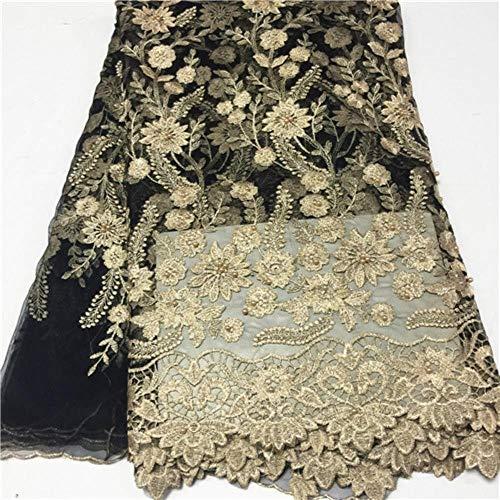 PENVEAT Afrikanisches blauen Spitze-Gewebe-Hochzeitskleid Französisch Nigerian Tüll Netto Fabrics günstiger Preis Großhandel Tüll Spitze Stoff mit Perlen, PL1200504F102