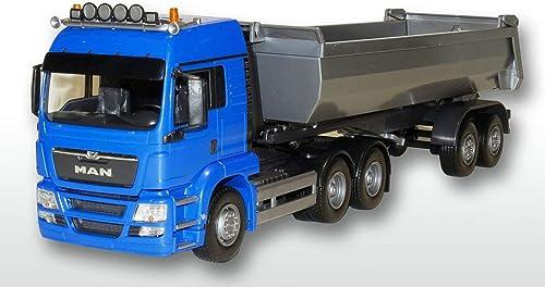 GMTS - Golden Oldies Linie 50 EMEK - EM22594 - MAN TGS LX 3 2achs Kippauflieger FH blau und Kipper silber, Euro5 1 25