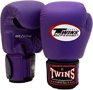 Twins Special Muay Thai Boxing Gloves BGVLA 2 Air Flow Gloves. Univesal Gloves for Training or Sparring. (Purple, 16 oz)