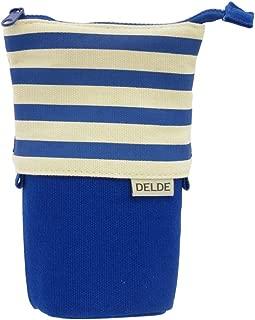 DELDE Pen Case, Pop Blue Stripe