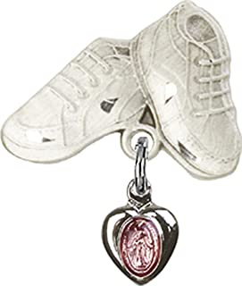 DiamondJewelryNY Baby Badge with Miraculous Charm and Baby Boots Pin