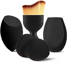 BEAKEY 3+1 Pcs Makeup Sponges with Kabuki Contour Brush, Beauty Sponge Blenders with 3..