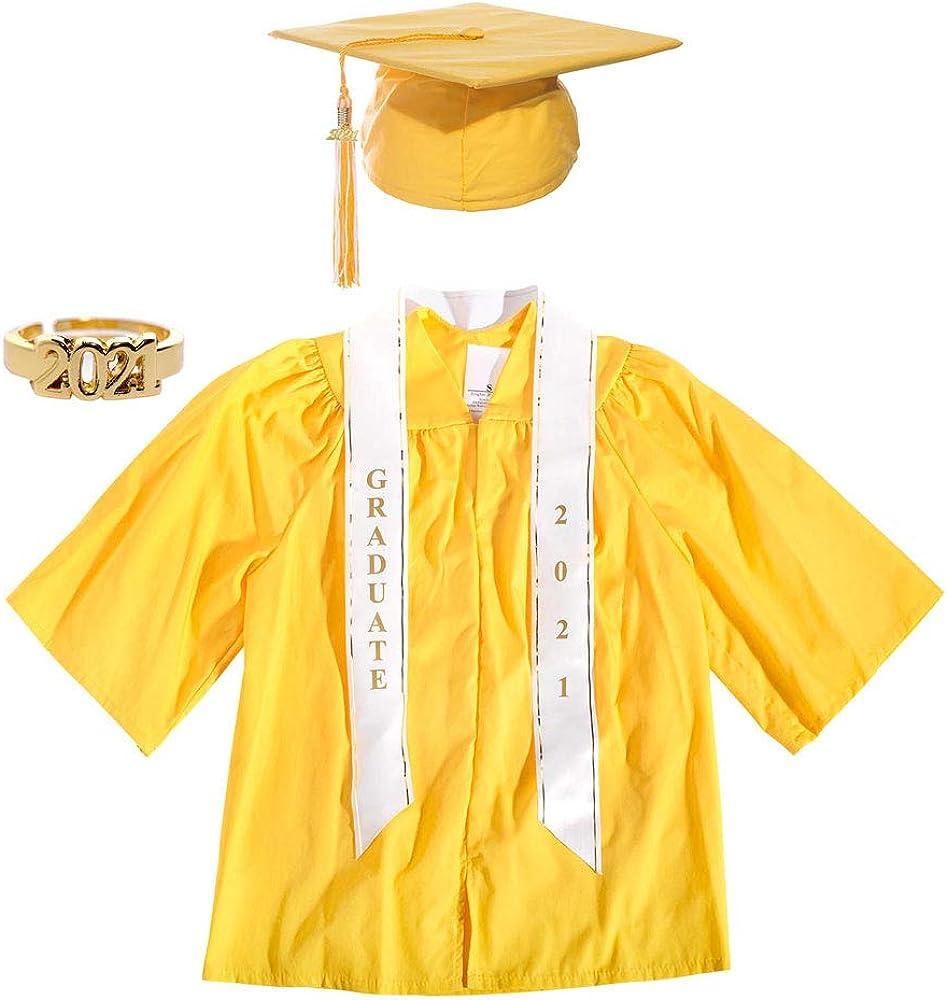 Preschool Graduation Cap, Gown, Tassel, Sash, Ring, Certificate